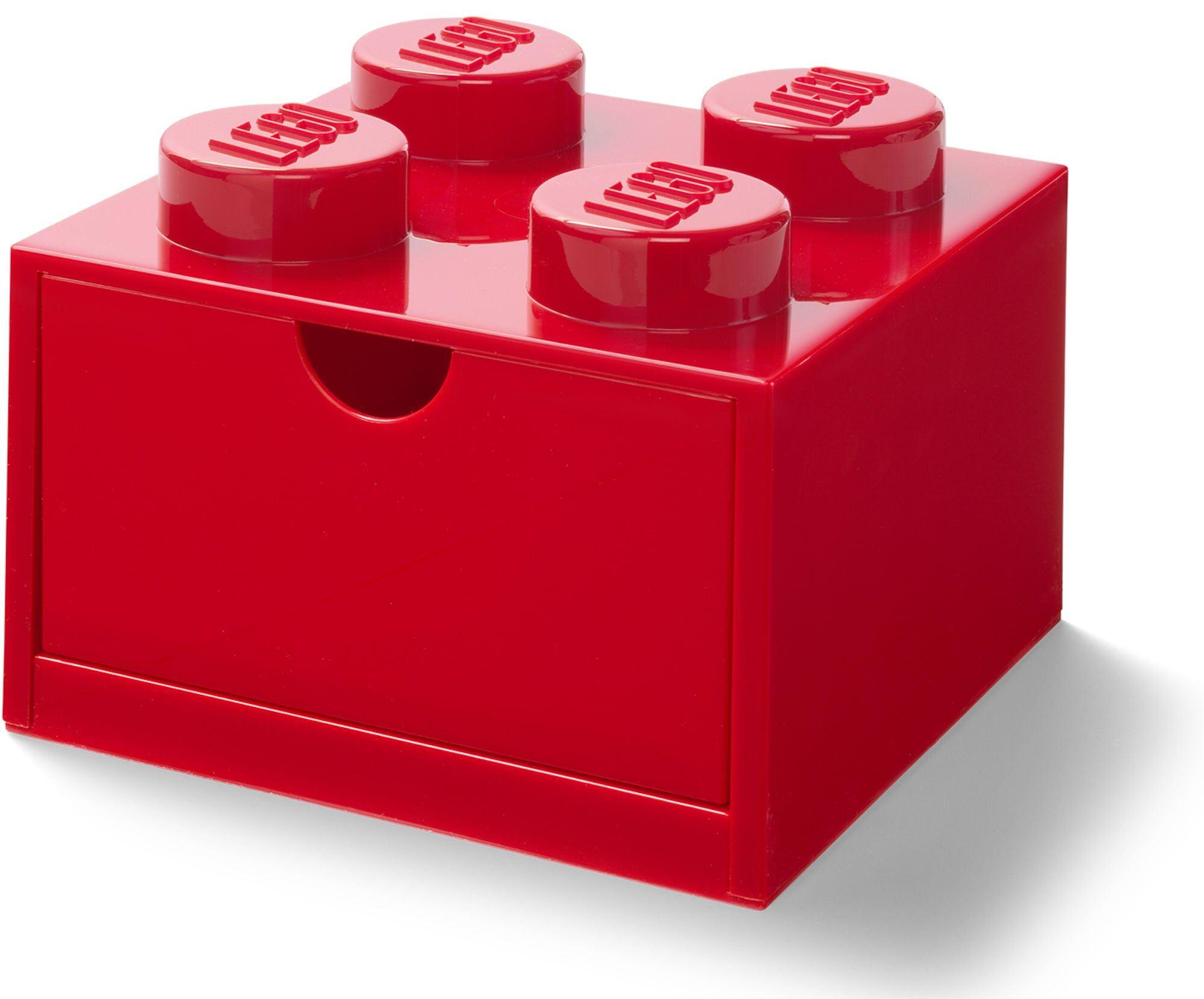 Lego Skrivebordsskuff 4, Rød