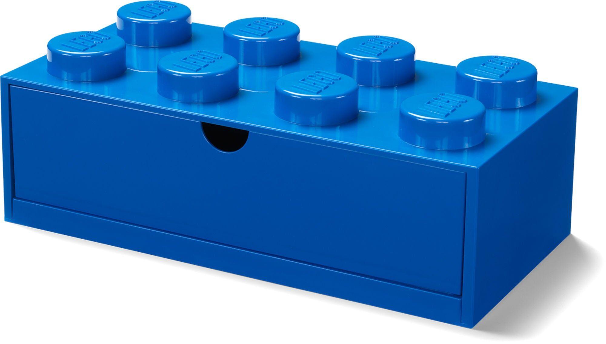 Lego Oppbevaring Skrivebordsskuff 8, Blå