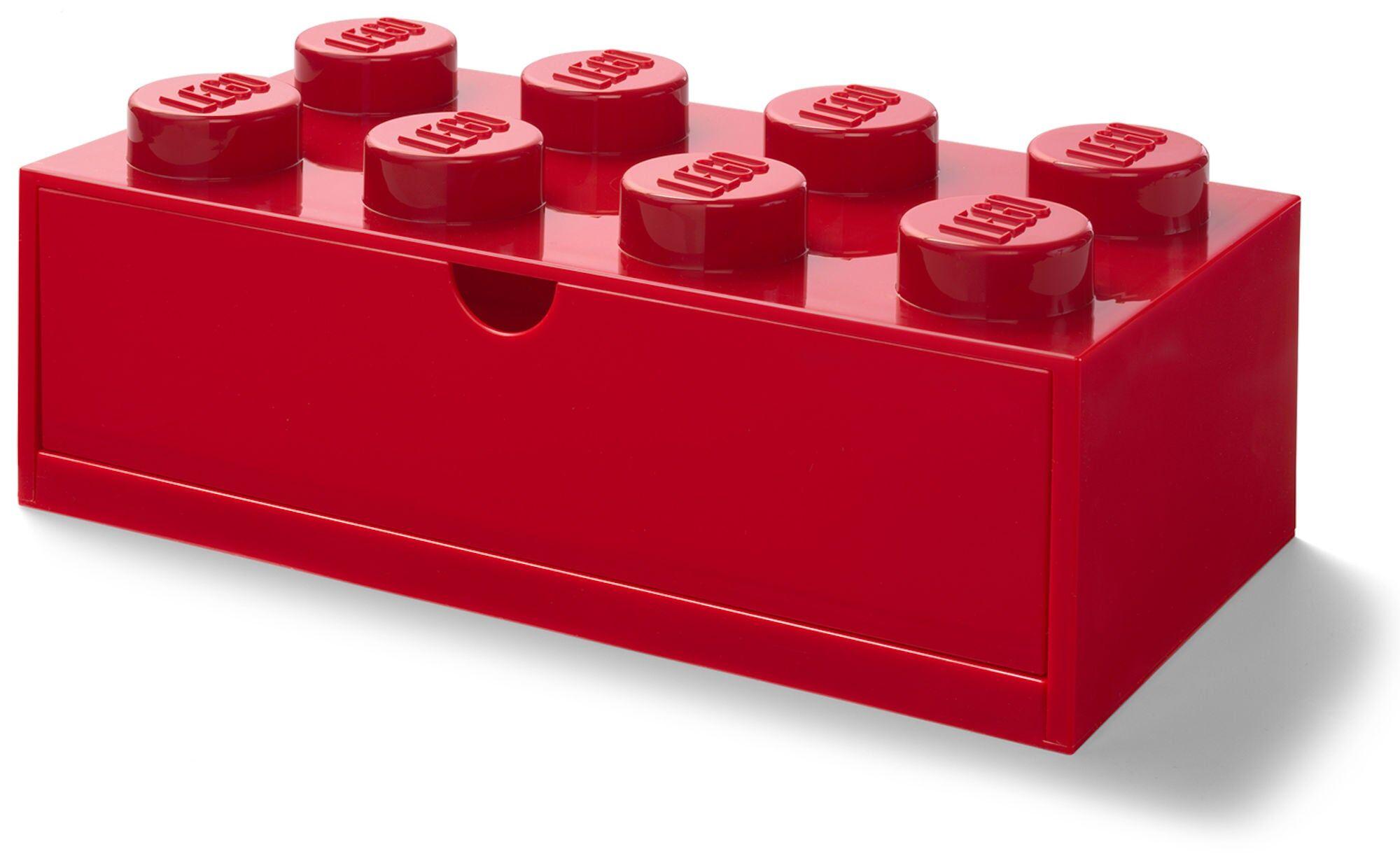 Lego Oppbevaring Skrivebordsskuff 8, Rød