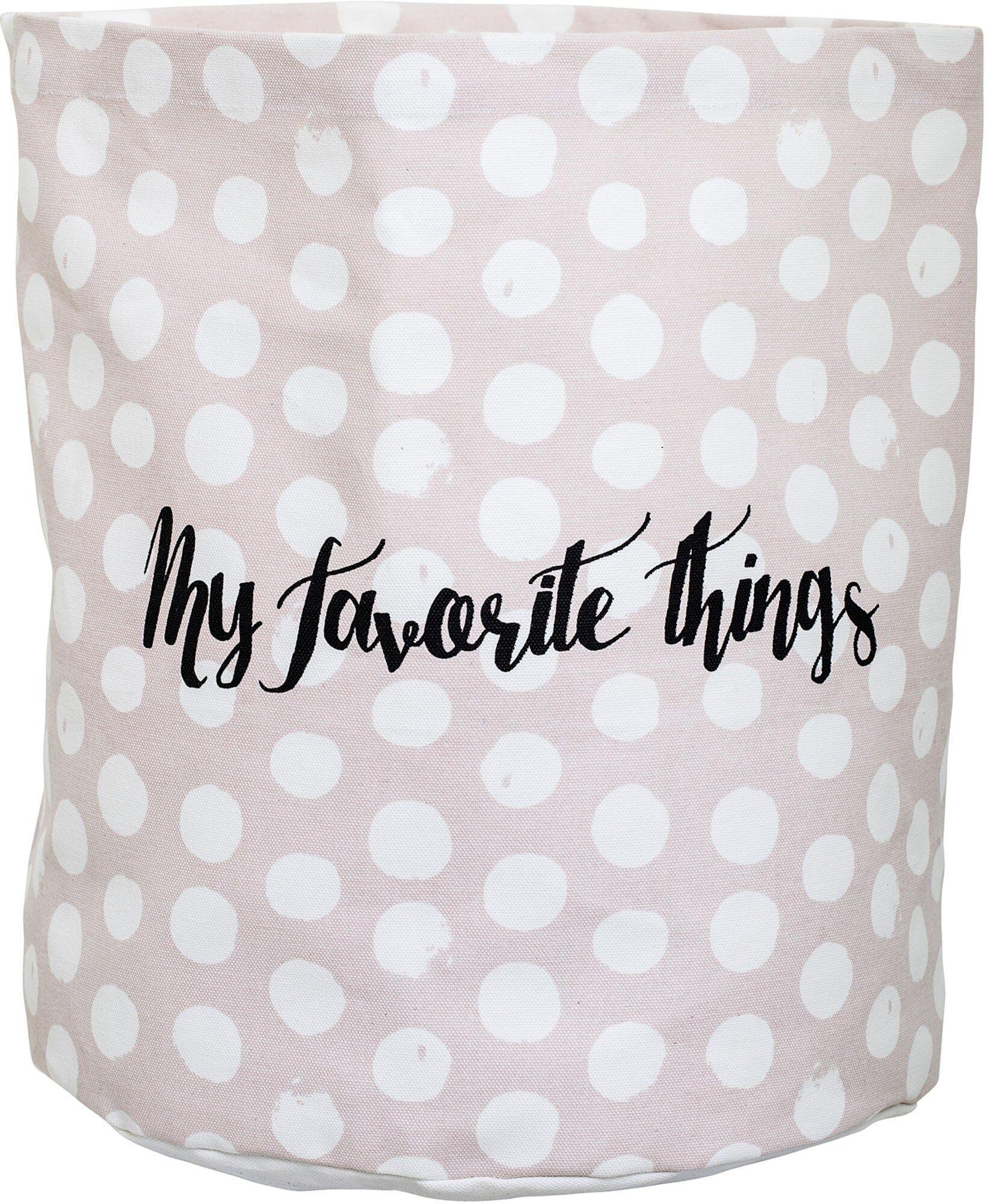 Bloomingville Oppbevaringskurv Favorite Things, Prikkete