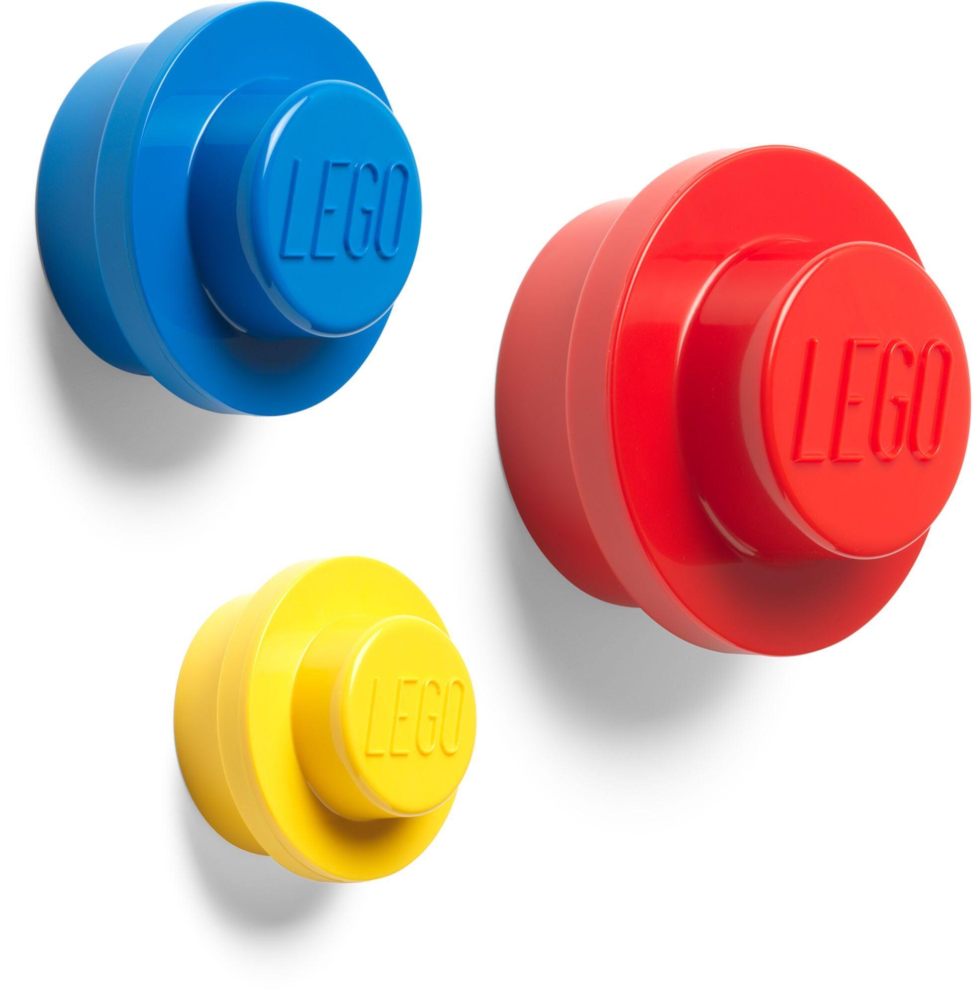 Lego Knagg 3-pack, Rød/Blå/Gul