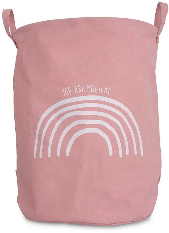 Jollein Oppbevaringskurv XL Rainbow, Blush Pink