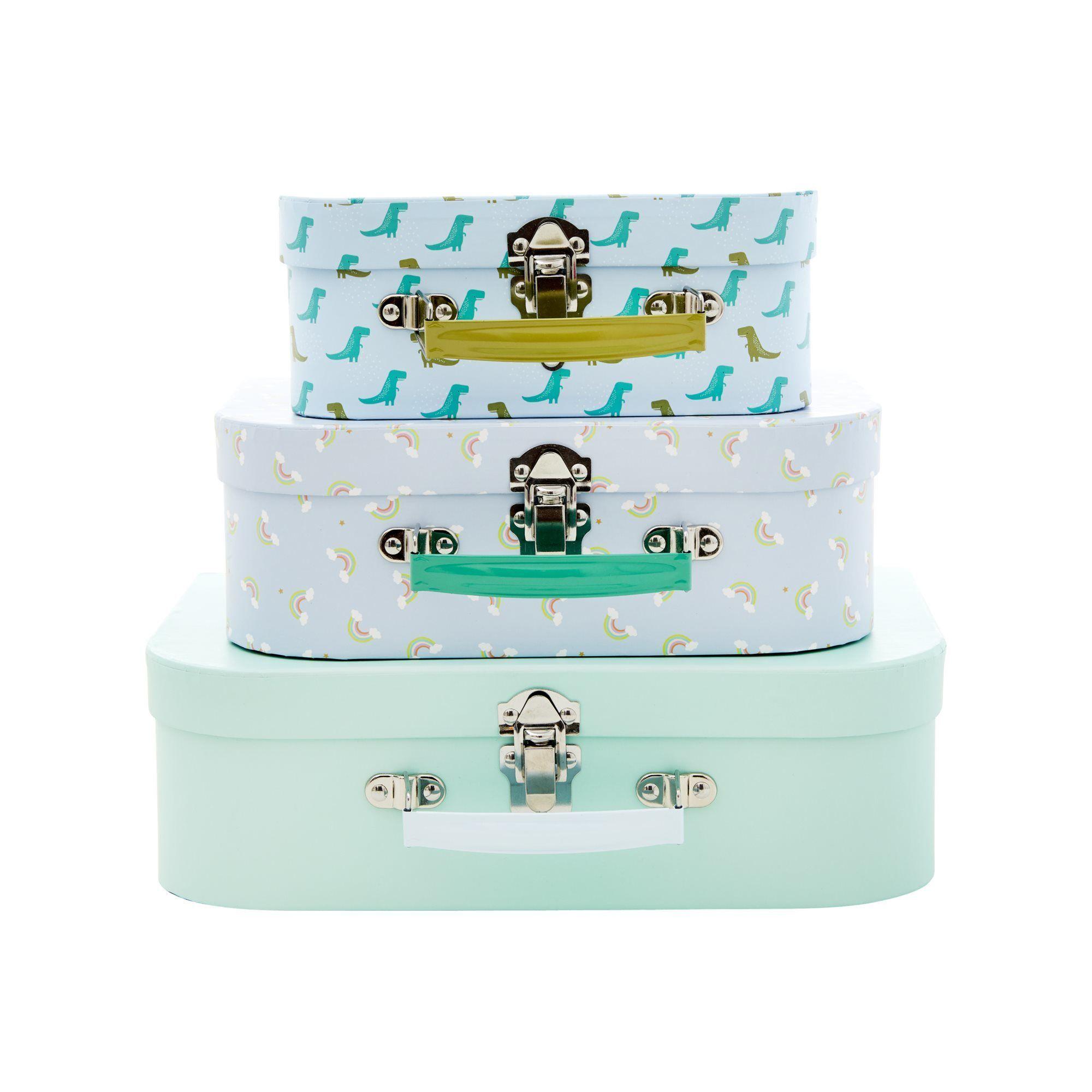 Rice Koffert 3-pack, Grønn & Blå