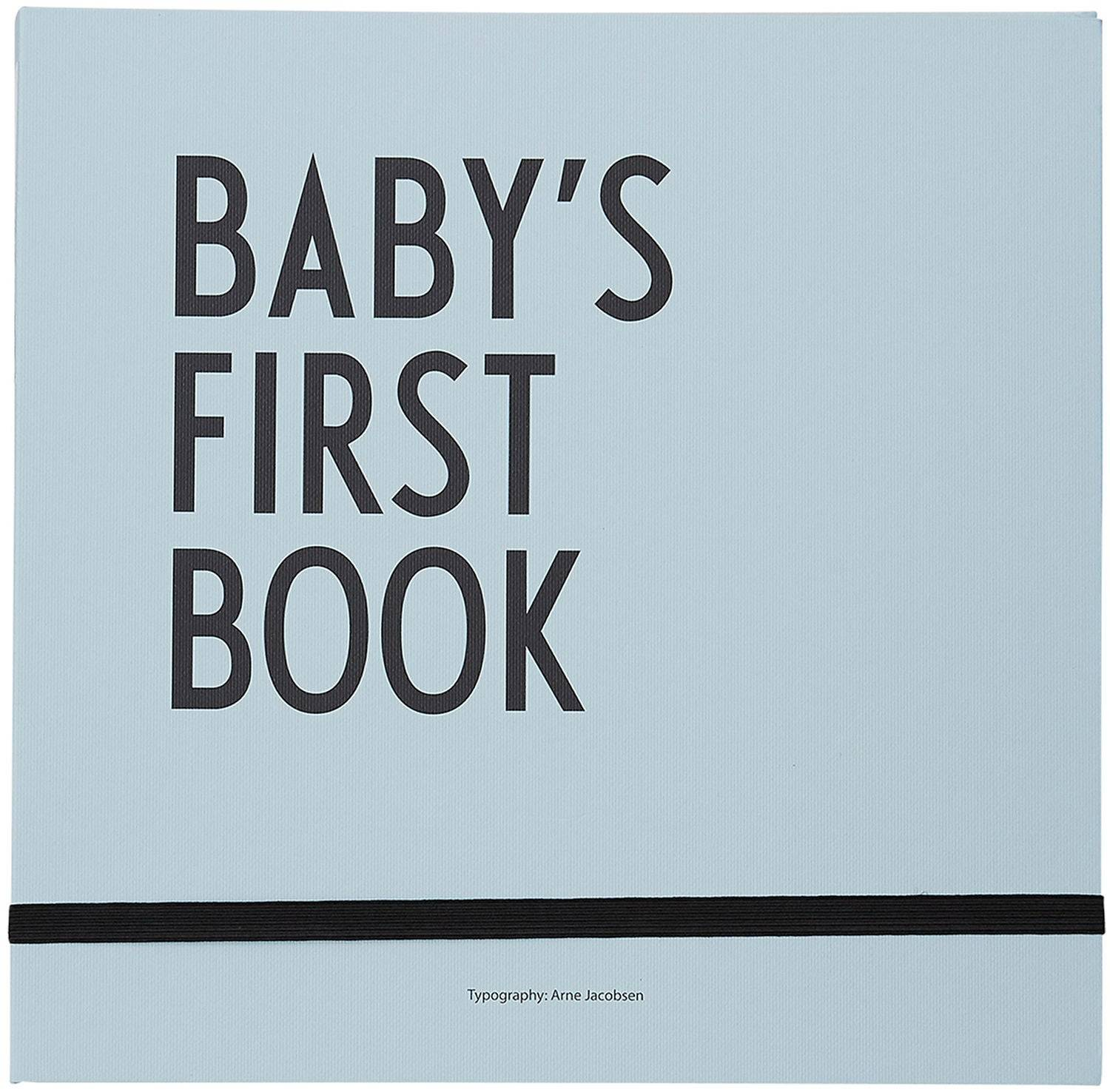 Design Letters Baby's First Book, Blå