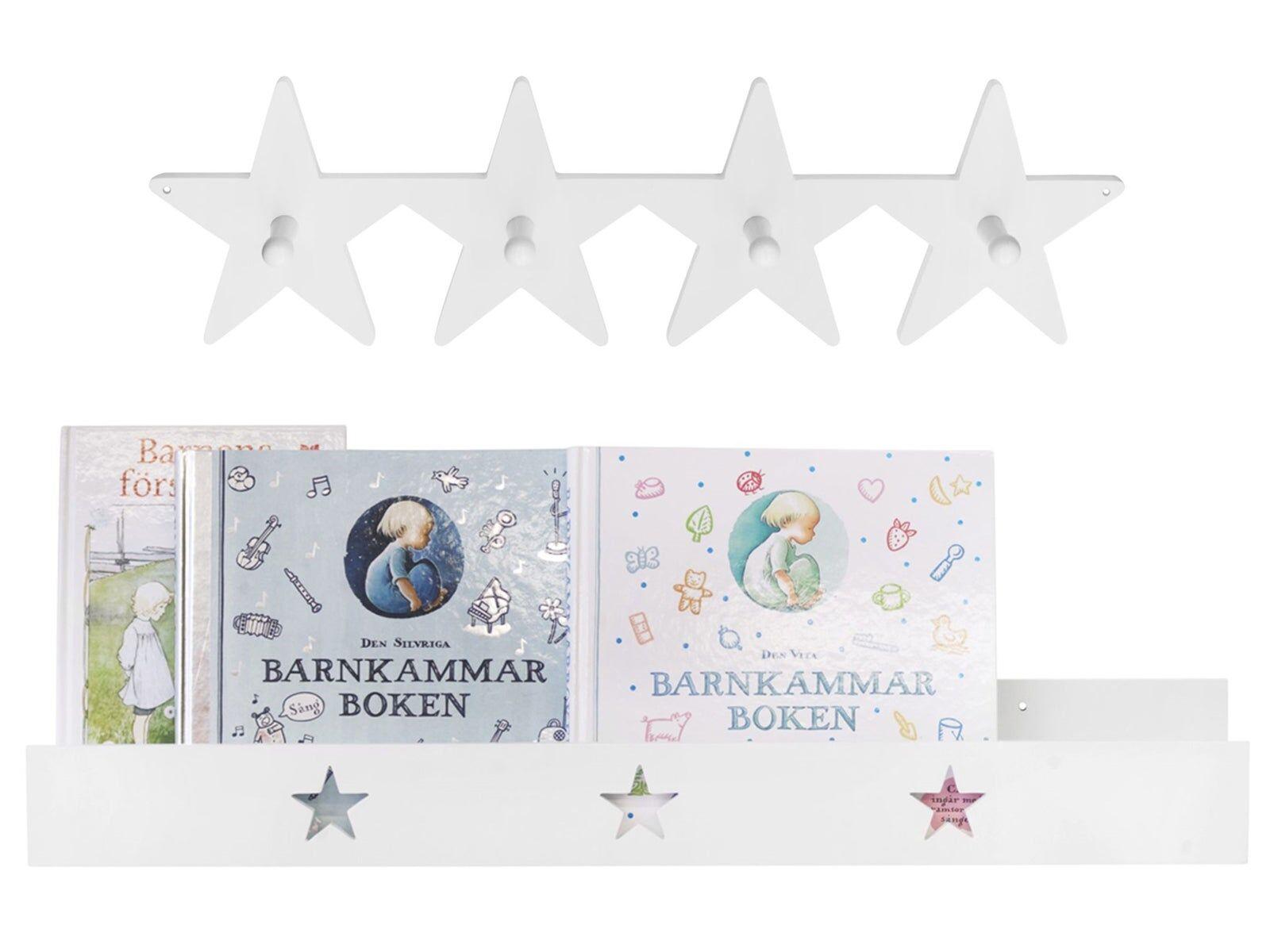 Kids Concept Star, Bokhylle og Knagger, Hvit