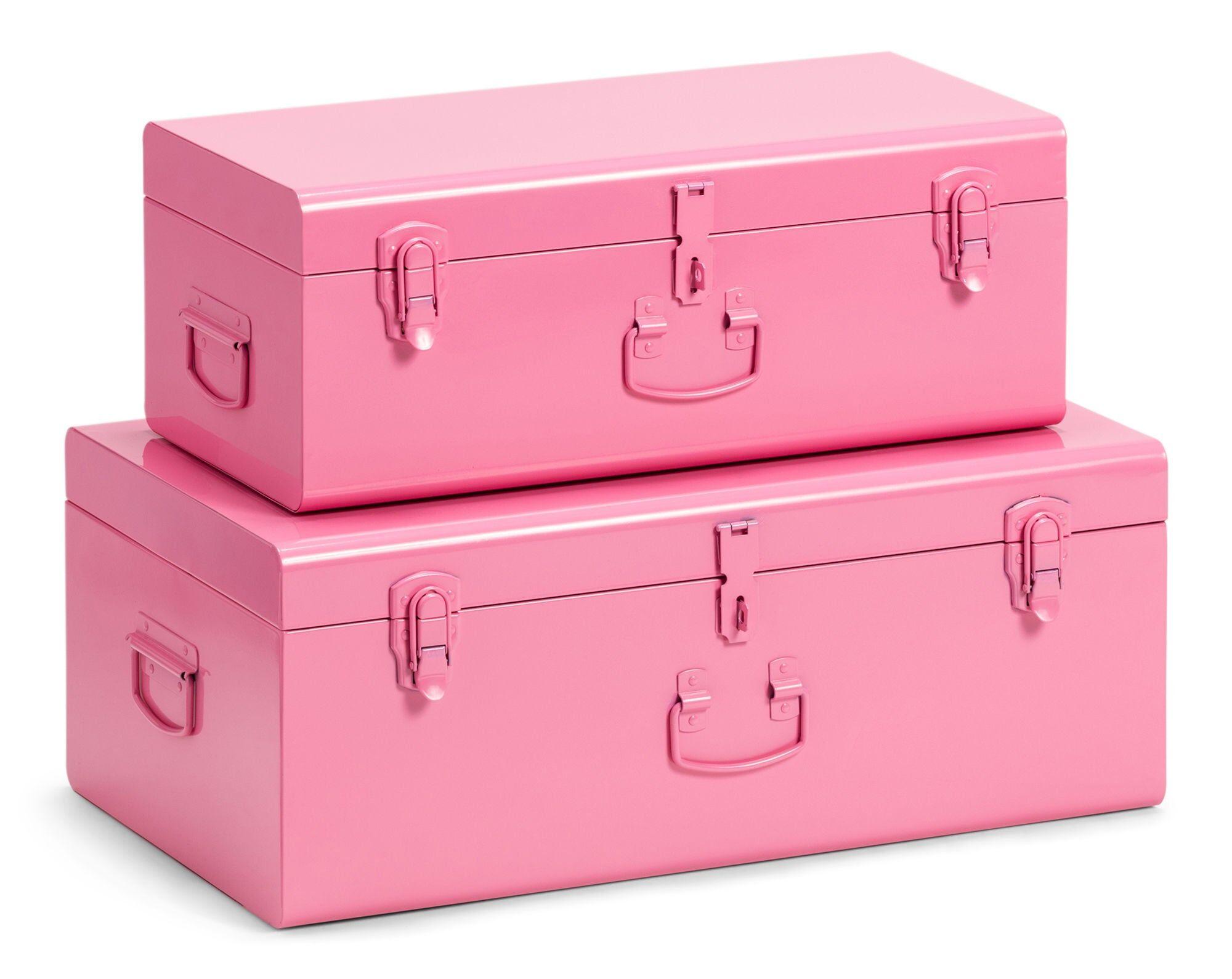 POPP Oppbevaringskasser Koffert 2-Pack, Rosa