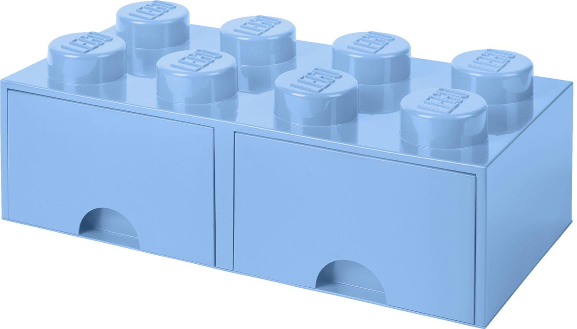 Lego Oppbevaringsboks med Skuff 8, Lyseblå