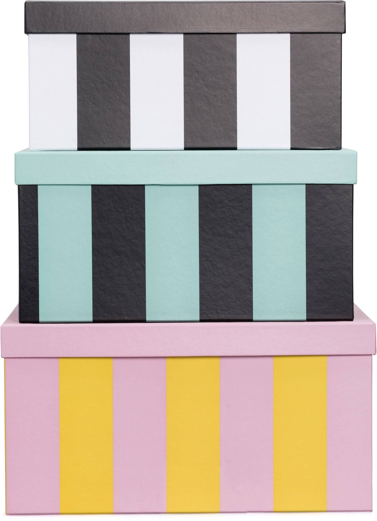 Petite Déco Oppbevaringsboks Rektangel Circus Stripe 3-Pack
