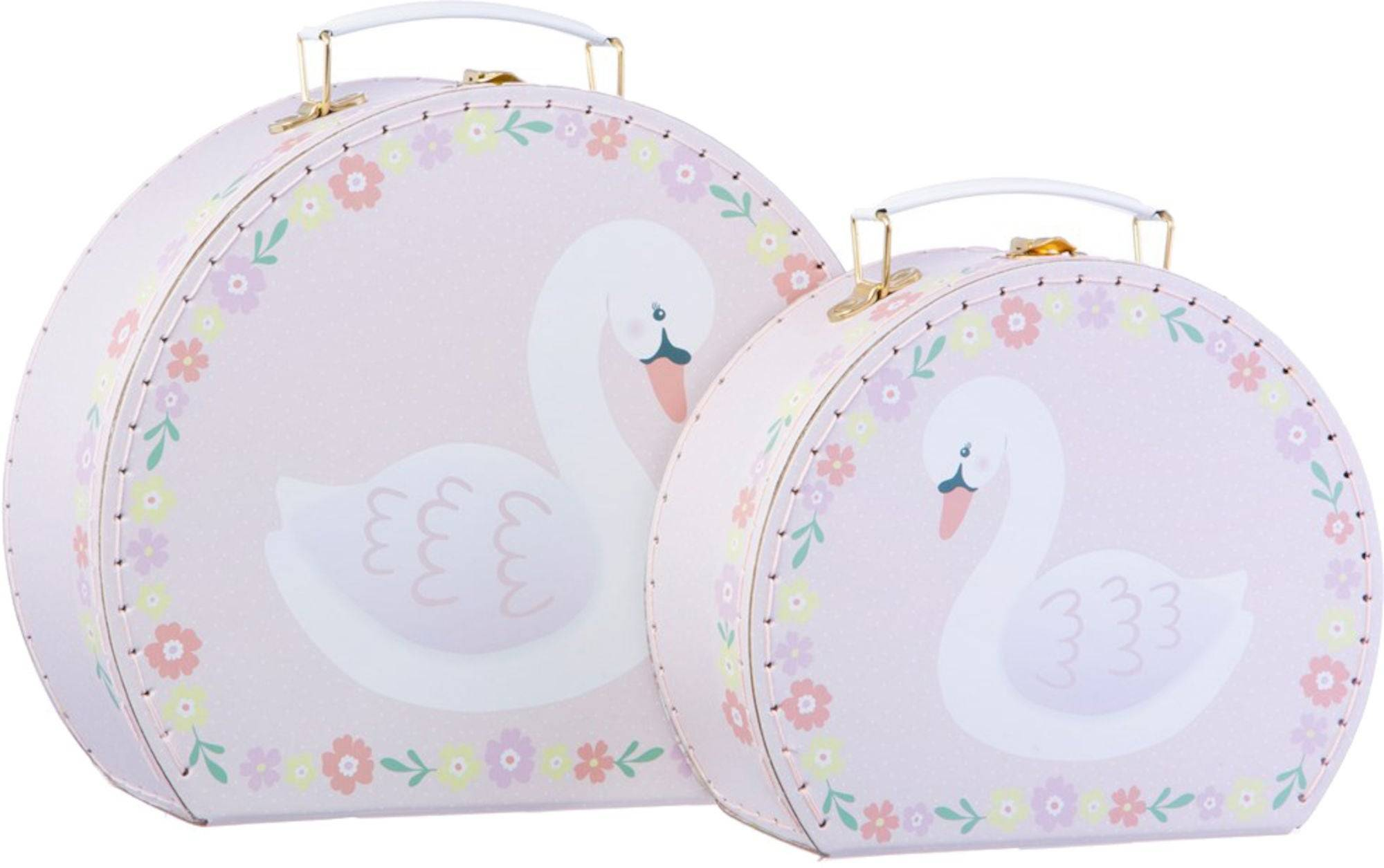 Sass & Belle Pappkoffert Pink Floral Suitcases 2-pack