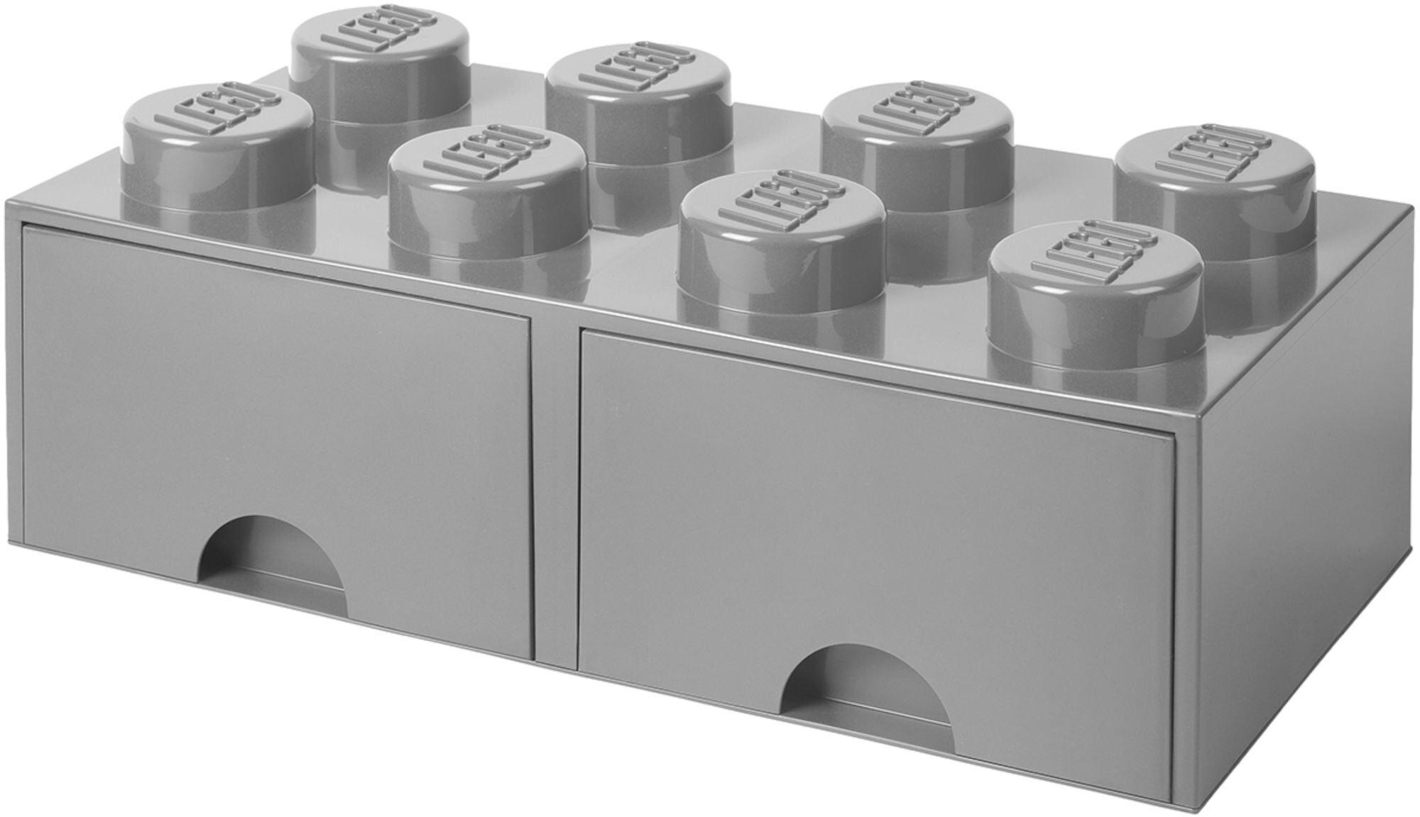 Lego Oppbevaringsboks med Skuff 8, Grå