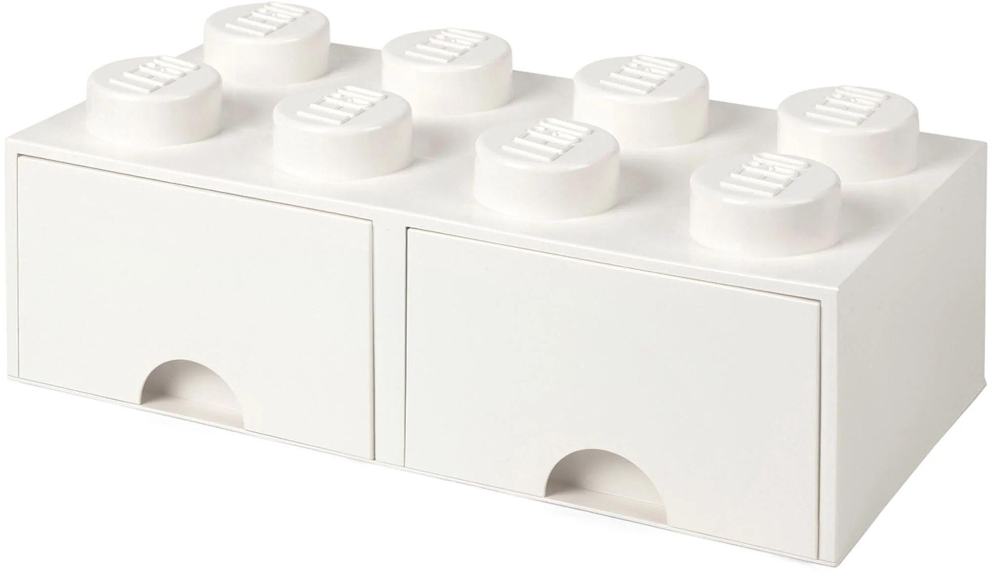 Lego Oppbevaringsboks med Skuff 8, Hvit