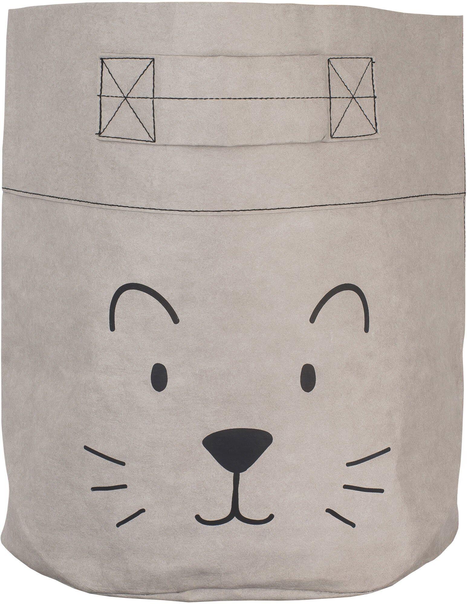 Jollein Oppbevaringskurv XL Little Lion, Grey