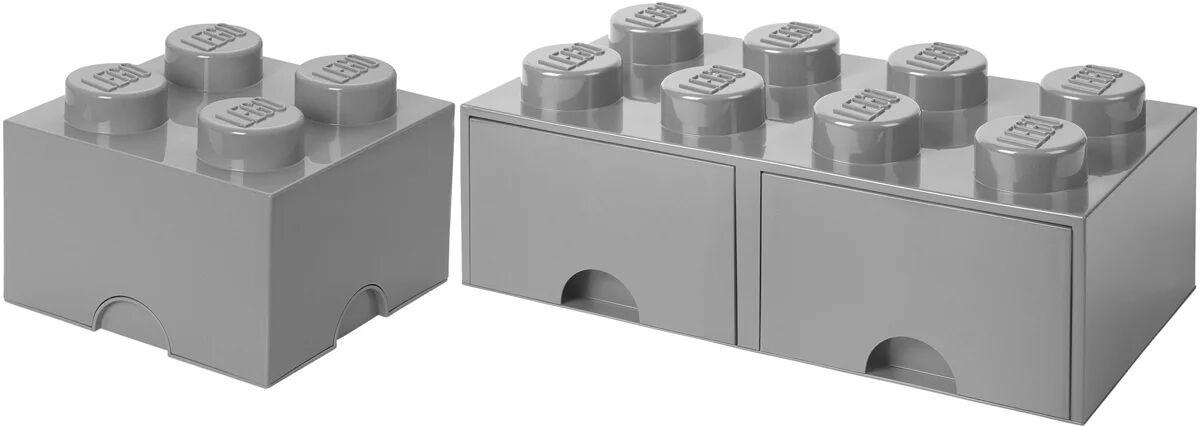 Lego Oppbevaringspakke Lilten/Stor, Grå