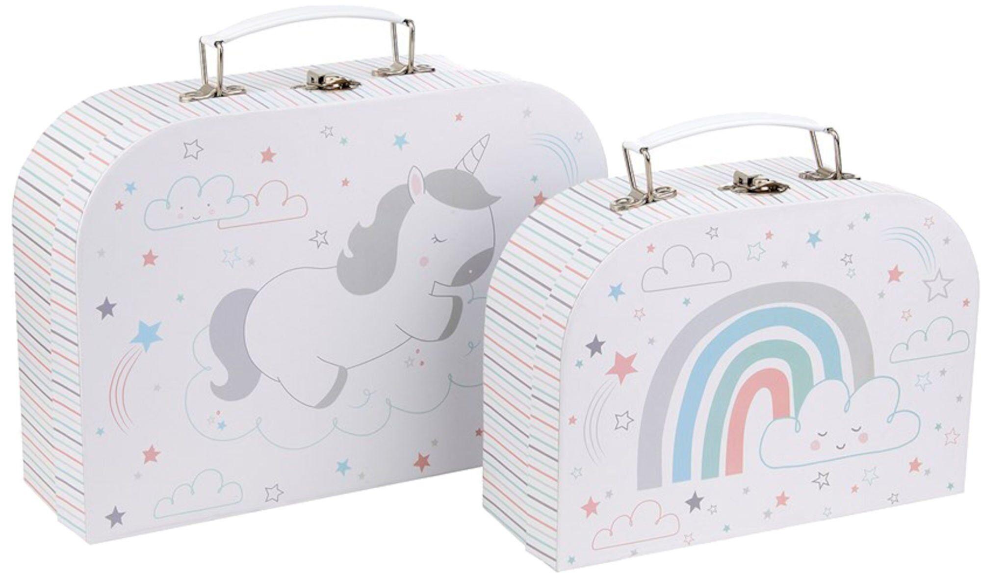 Sass & Belle Pappkoffert Baby Unicorn 2-pack