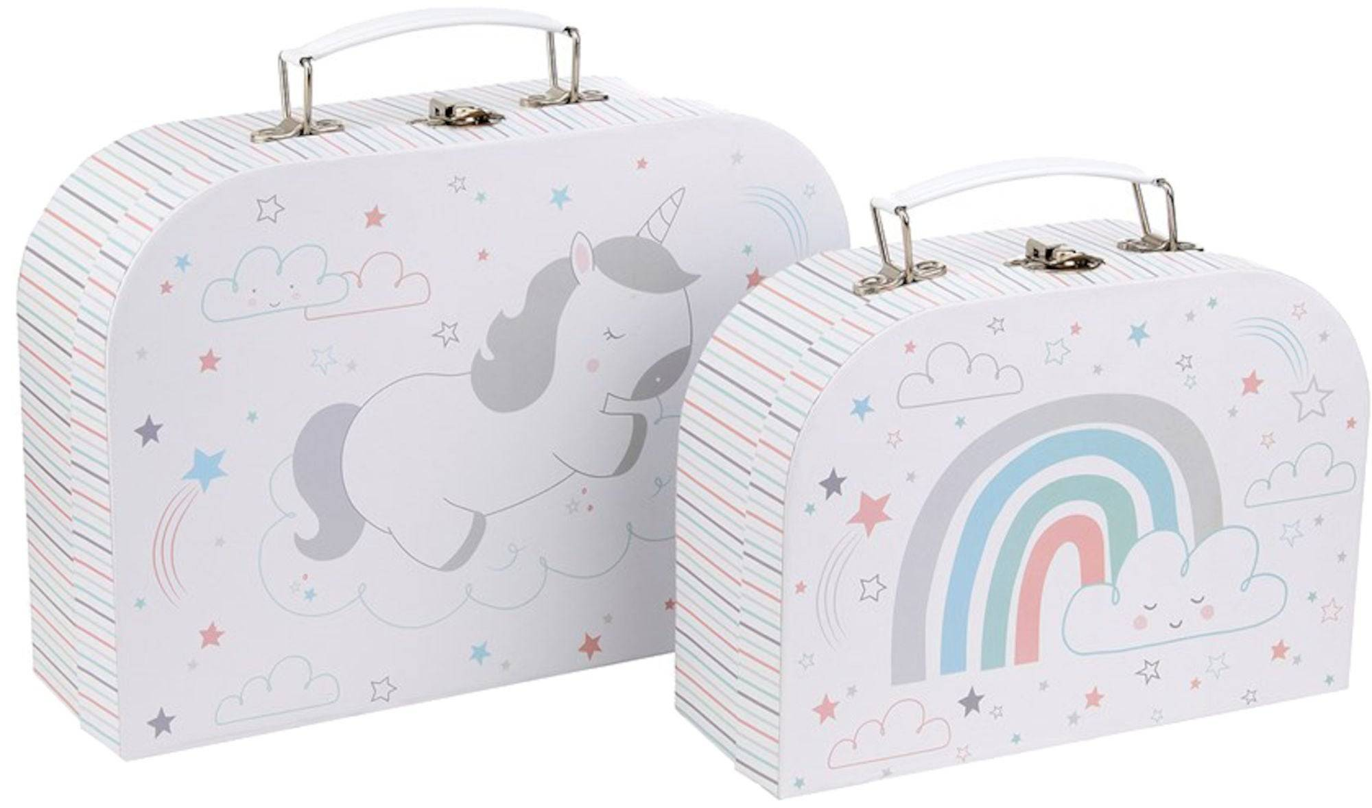 Sass & Belle Sass & Belle Pappkoffert Baby Unicorn 2-pack