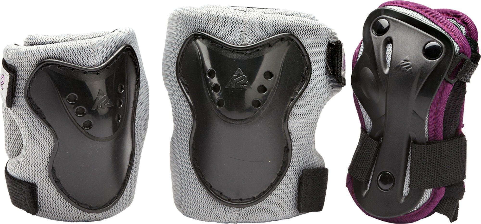 K2 Charm Pro Beskyttelsesett, Grå/Rosa XS
