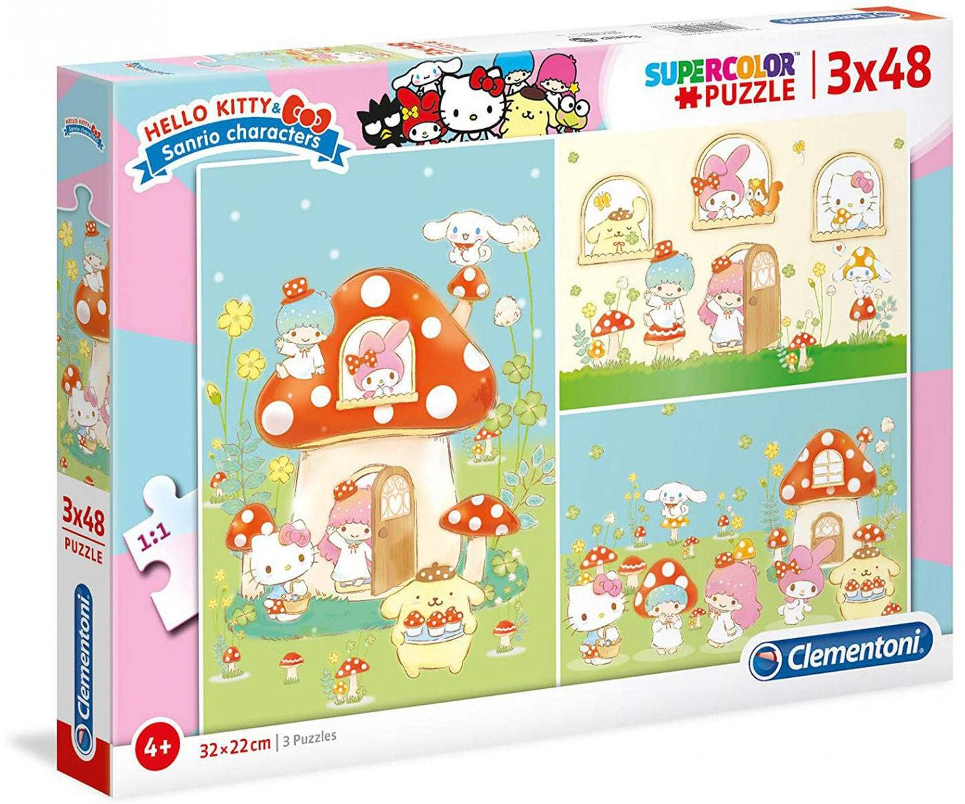 Hello Kitty Puslespill 3x48 Deler