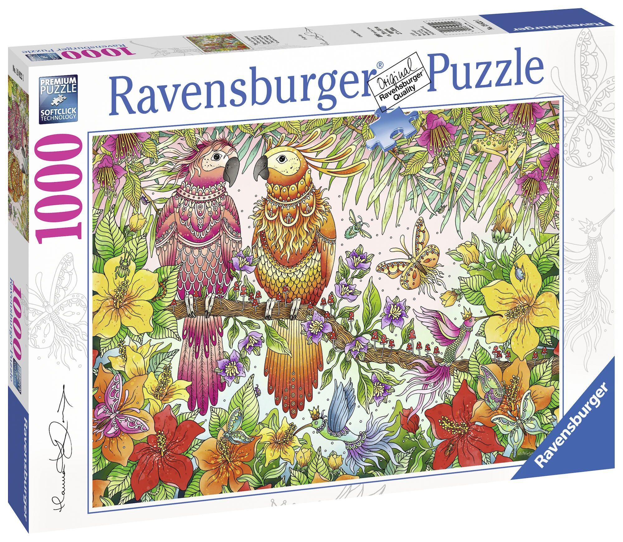 Ravensburger Pussel Tropiske Fugler 1000 Biter