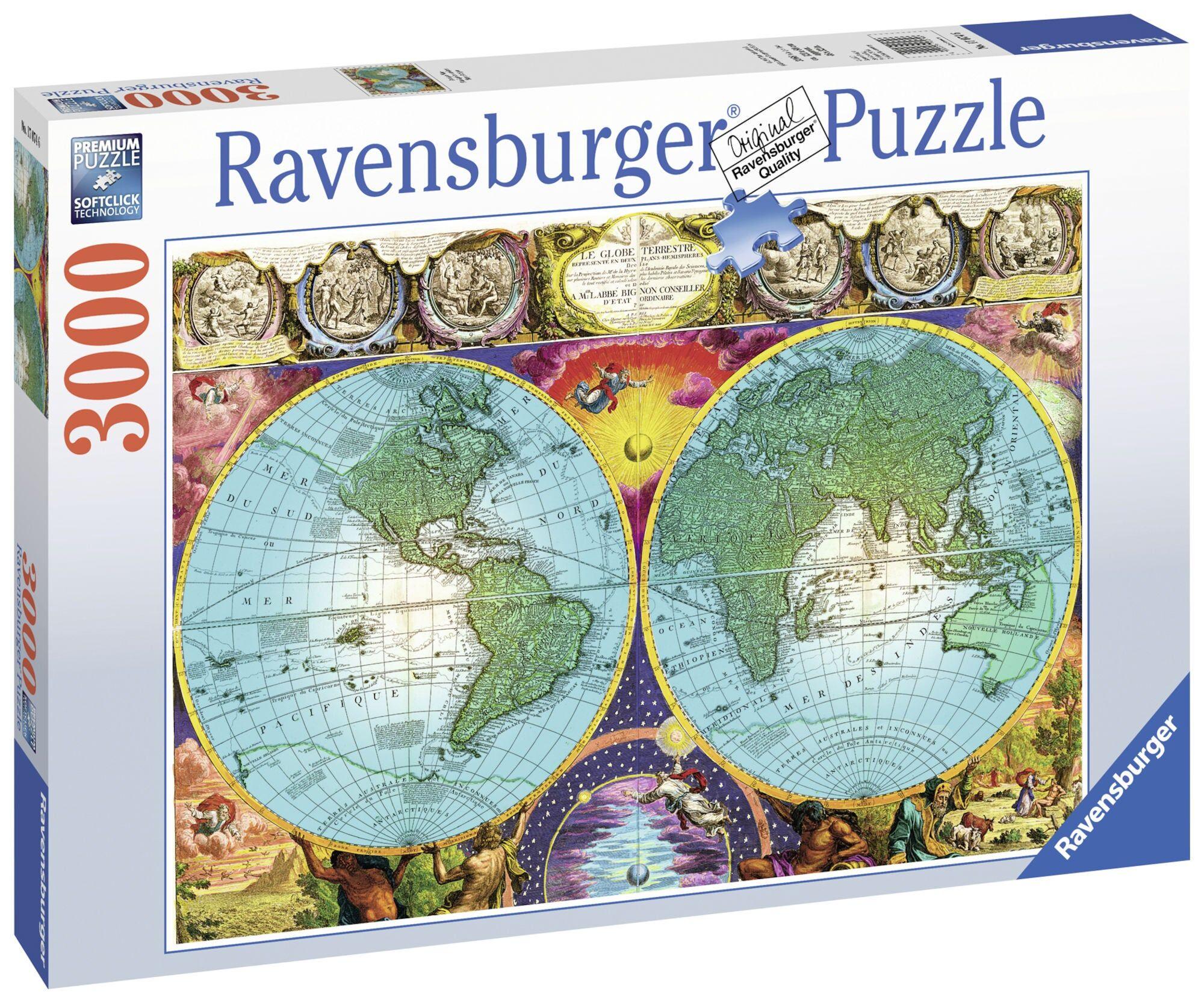 Ravensburger Puslespil Antikke Kart 3000 Biter