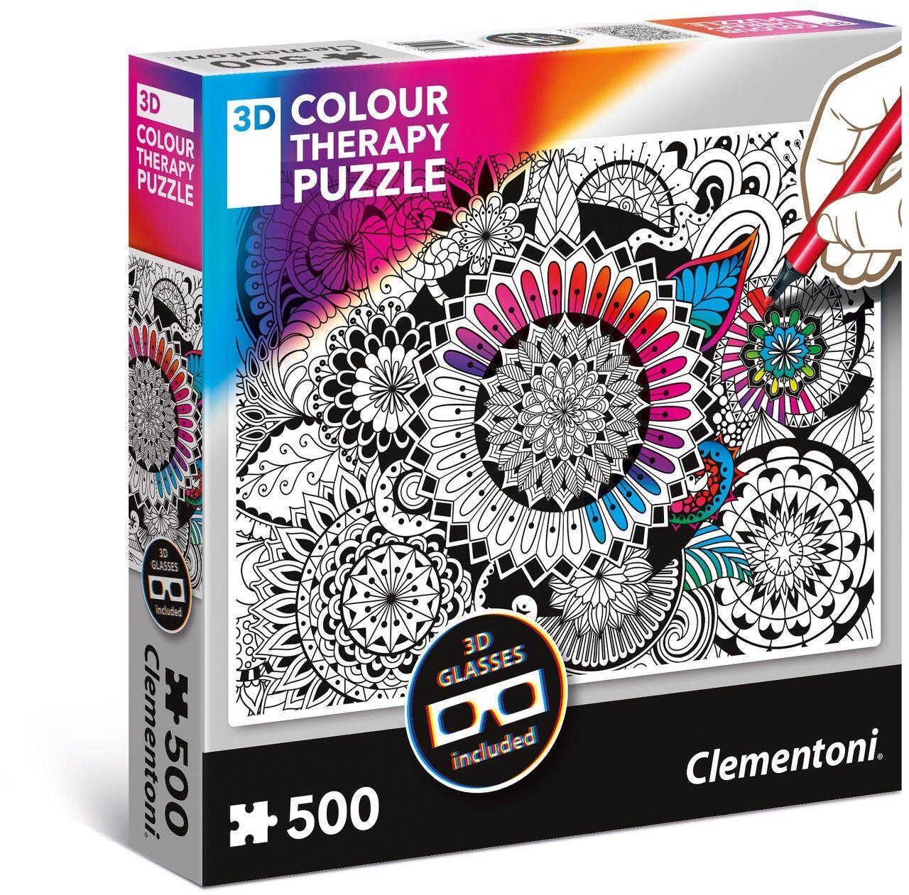 Clementoni Male Selv 3D Puslespill Mandala 500 Brikker