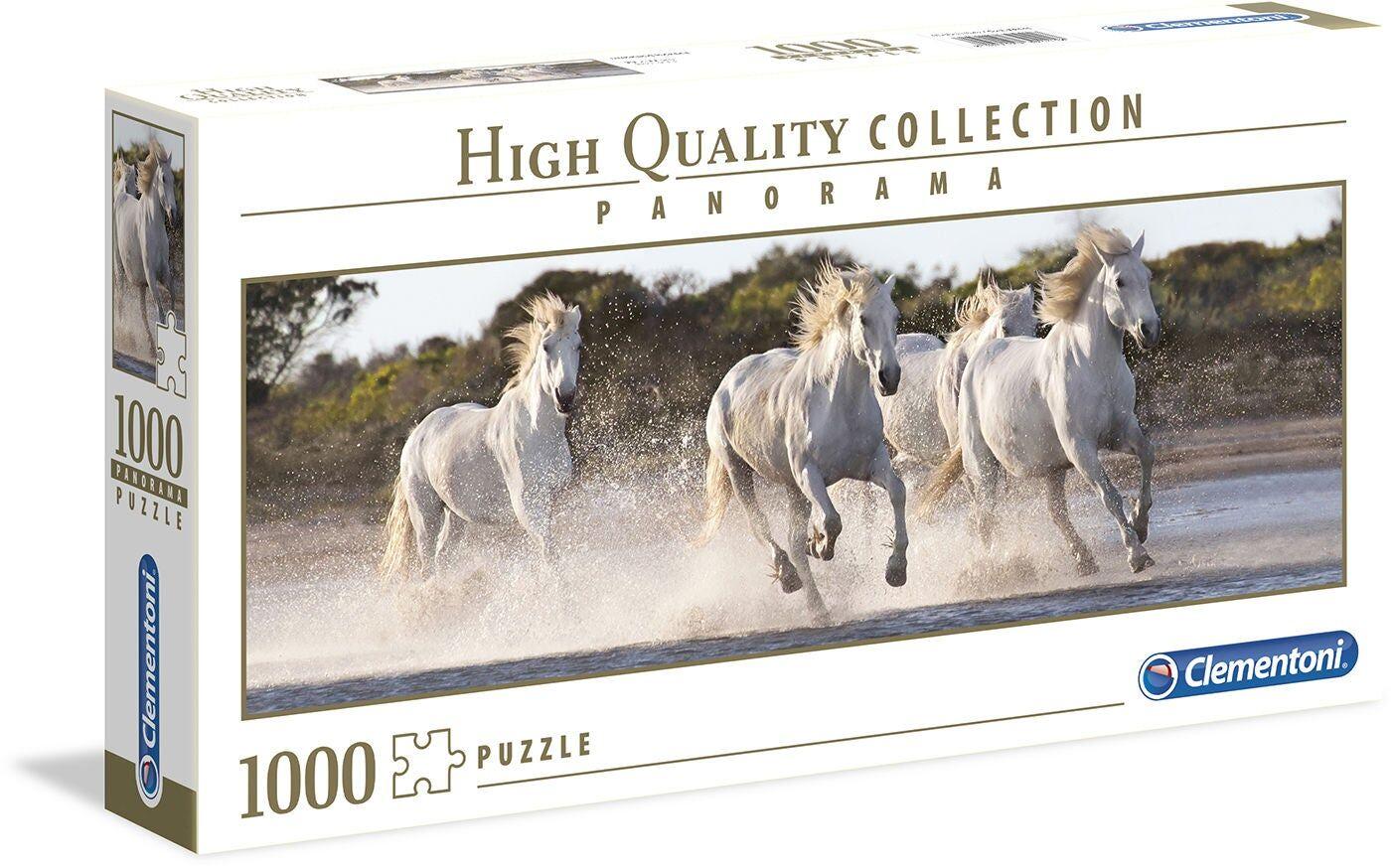 Clementoni Puslespill Springende Hester Panorama 1000 Brikker