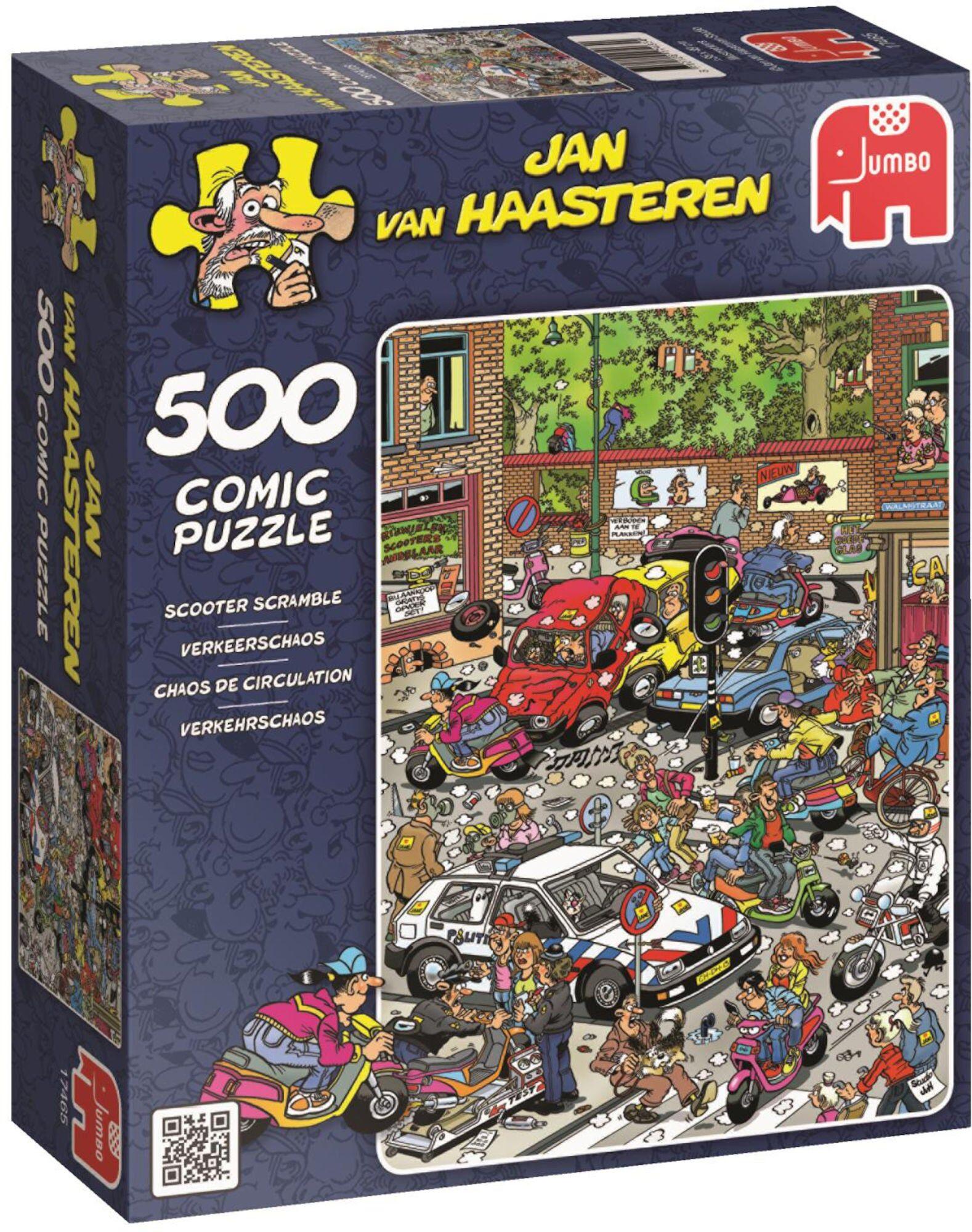 Jumbo Puslespill Jan van Haasteren Scooter Scramble 500