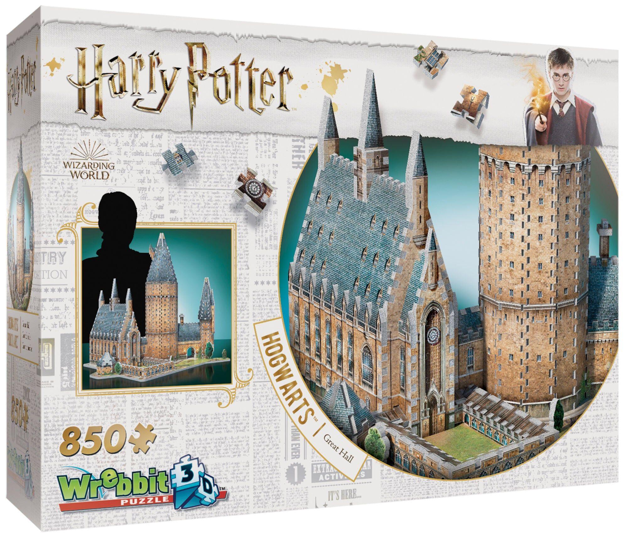 Wrebbit Harry Potter 3D-puslespill Store Salen Hogwarts 850 Biter