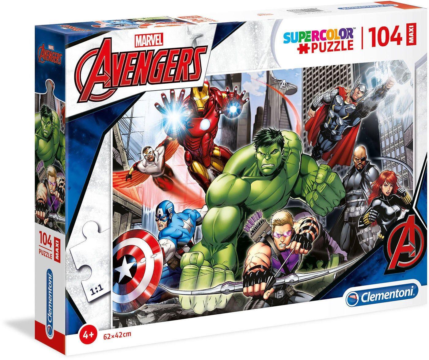 Marvel Avengers Puslespill 104 Brikker