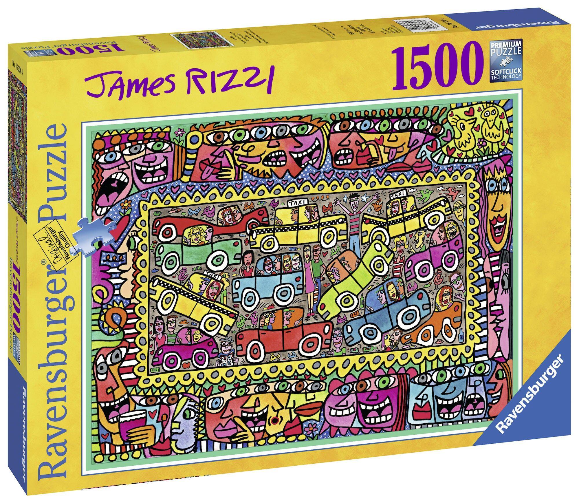 Ravensburger Puslespill James Rizzi På Vei Til Festen 1500 Biter