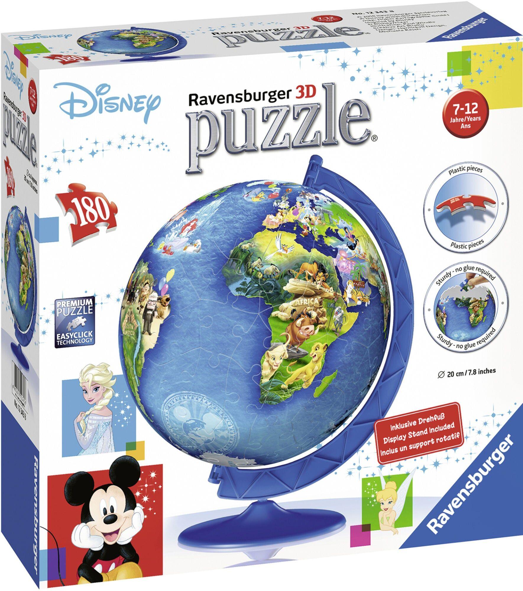 Ravensburger Puslespill Disney Jordglobe 180 Biter