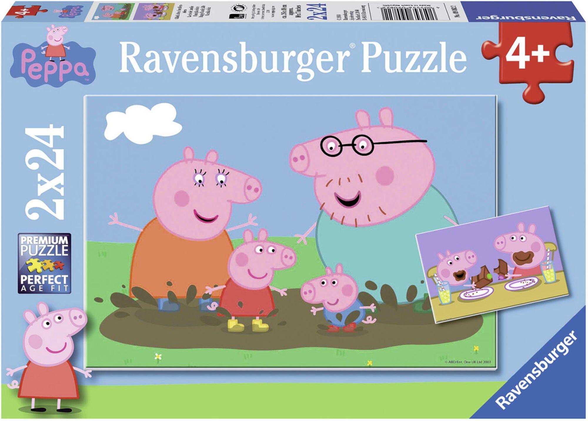 Ravensburger Puslespill Peppa Gris Familieliv 2x24 Biter