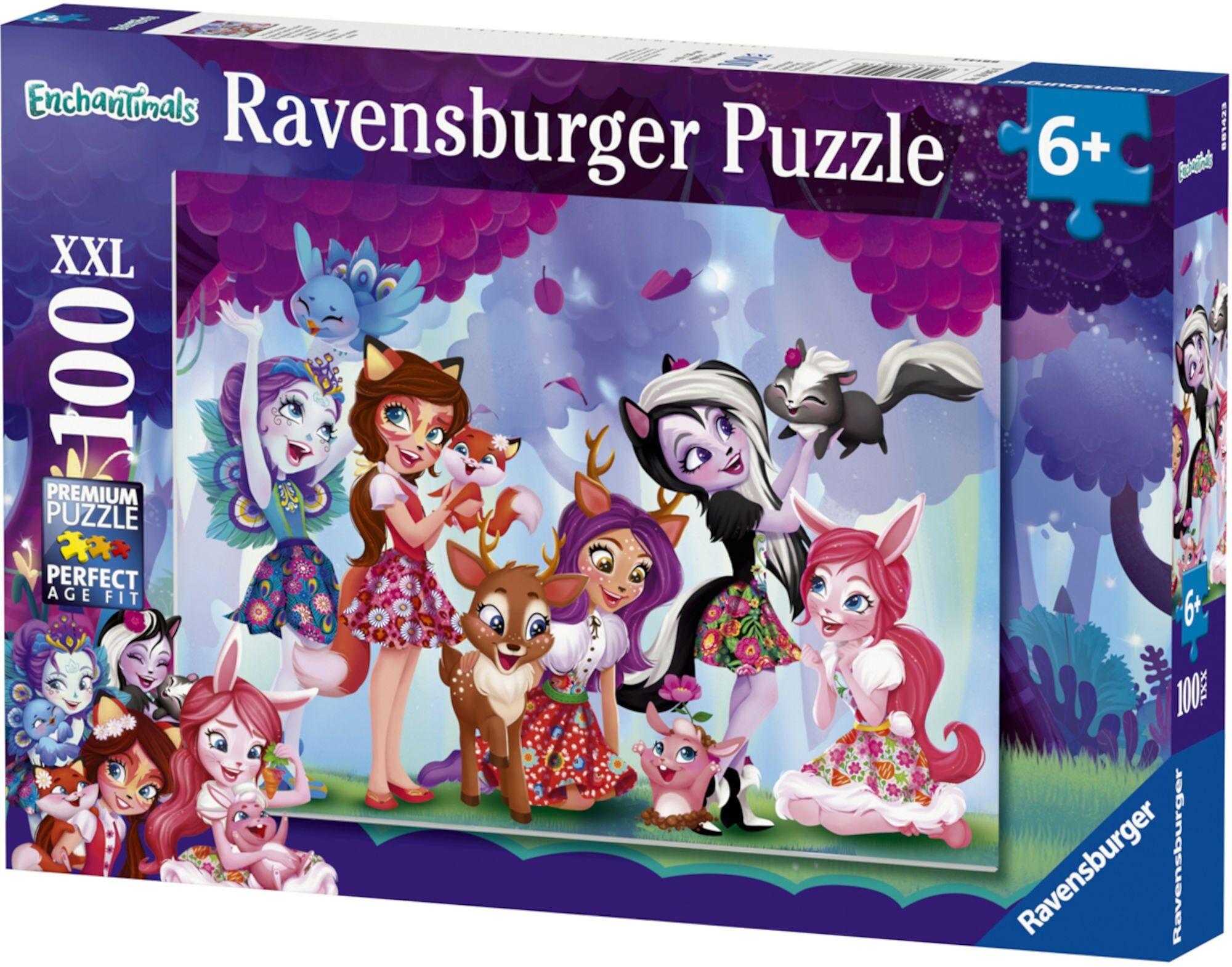 Ravensburger Puslespill Enchantimals Friends Forever 100-deler