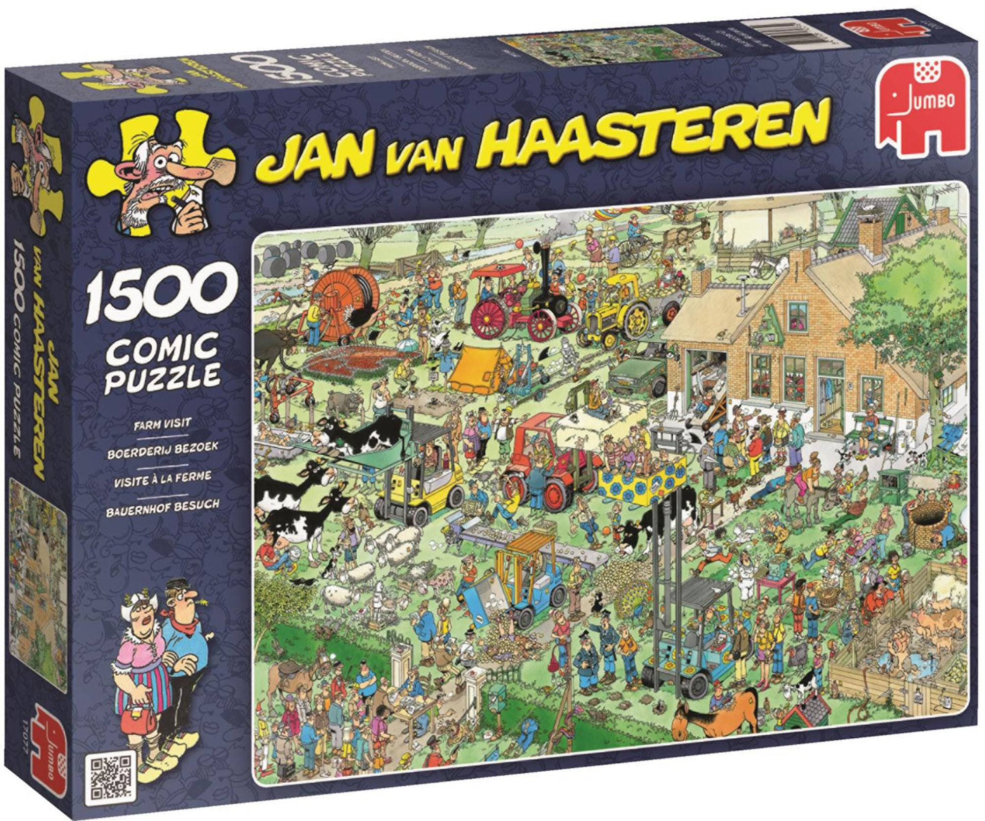 Jumbo Puslespill Jan van Haasteren Farm visit 1500