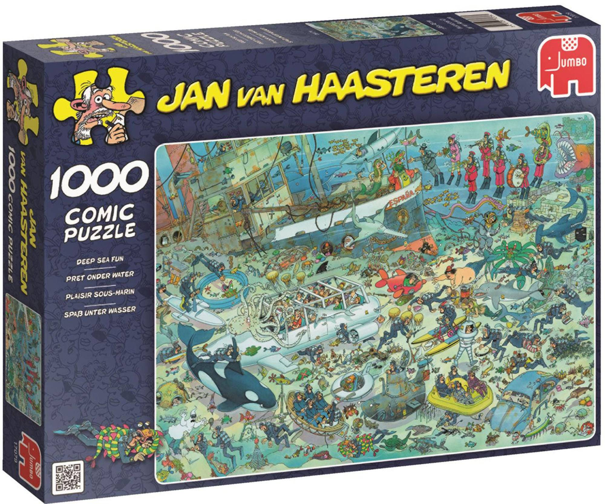 Jumbo Puslespill Jan van Haasteren Deep Sea Fun 1000