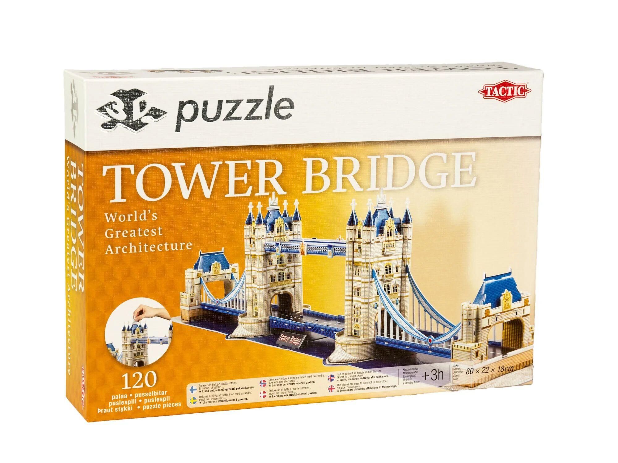 Tactic Puslespill 3D Puzzle Tower Bridge