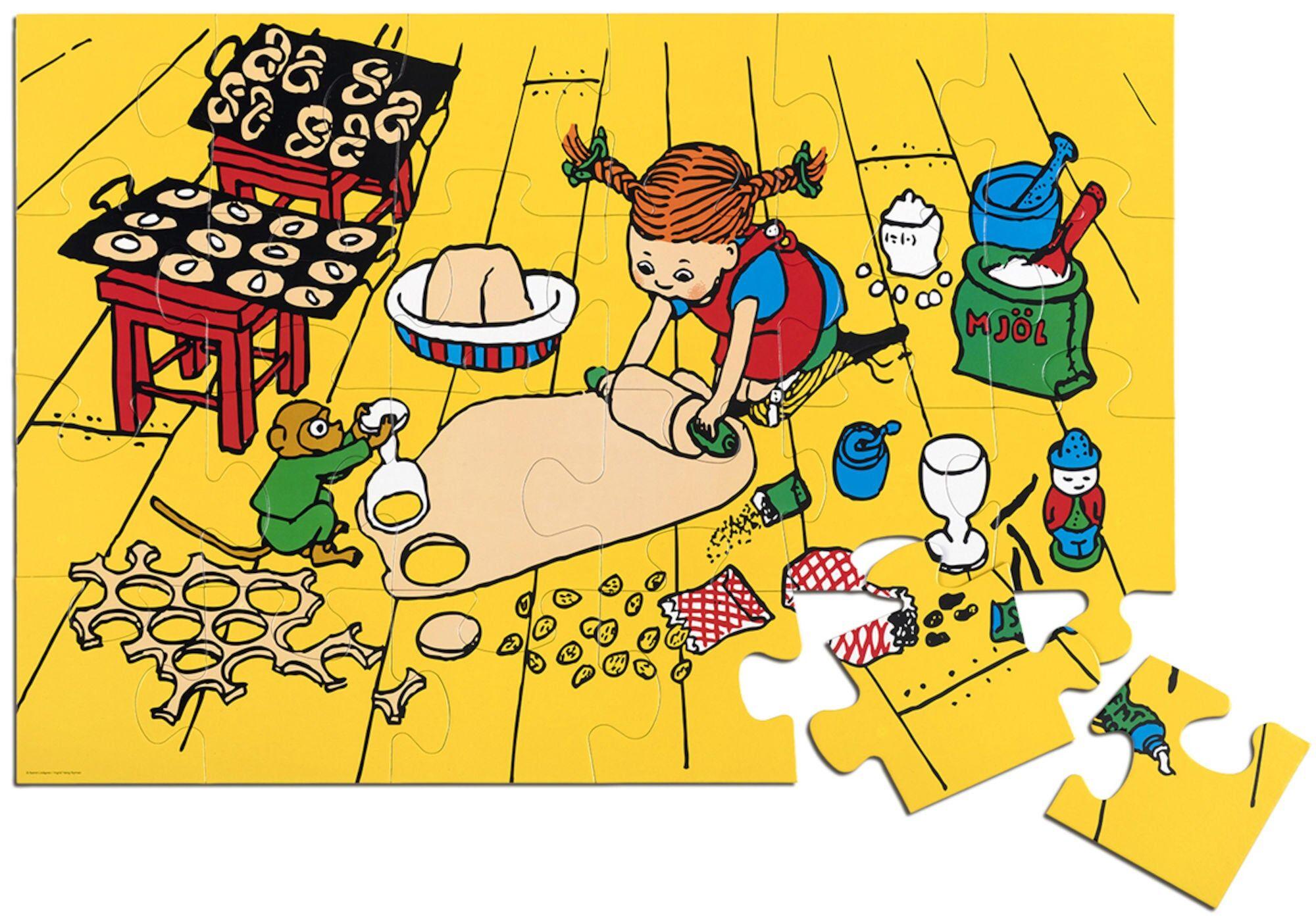 Pippi Langstrømpe Pippi Gulvpuslespill 24 brikker