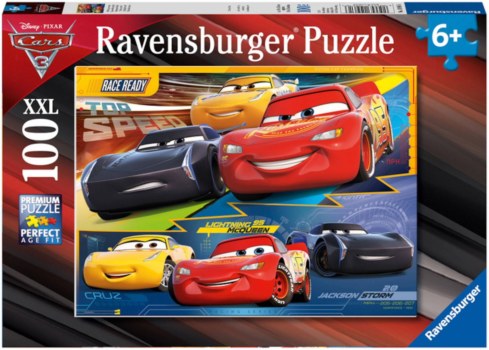 Disney Ravensburger Disney Cars Puslespill 100 Deler