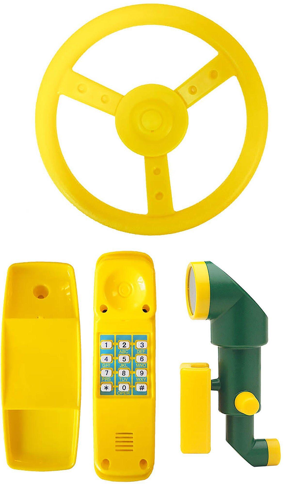 Jungle Gym Tilbehørspakke Ratt, Telefon og Periskop