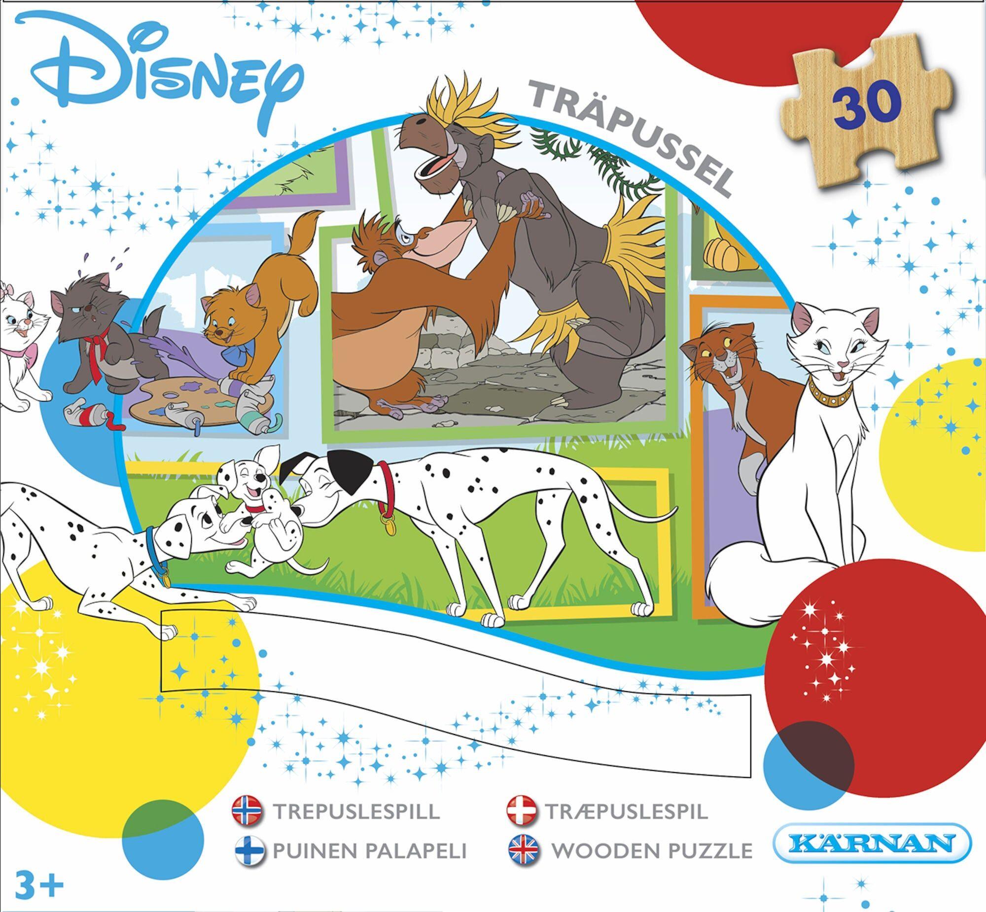 Egmont Kärnan Kärnan Trepuslespill Disney Classic 30 Deler
