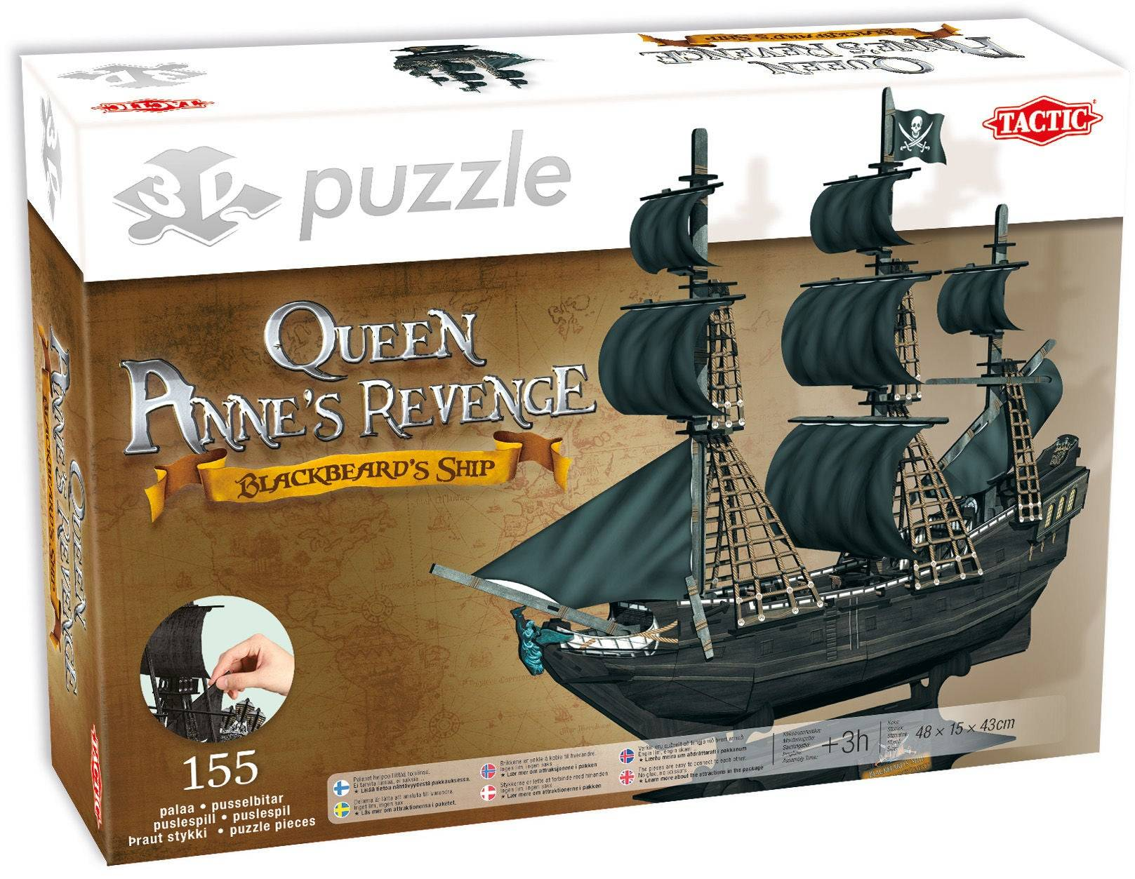 Tactic Puslespill 3D Puzzle The Queen Anne's Revenge