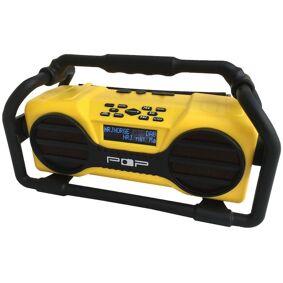 POP@worksite, arbeidsradio med dab+, trådløs strømming, IPX54 - en robust radio
