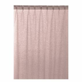 Linum -Intermezzo Gardin Med Leggbånd 140x290 cm, Dusty Pink