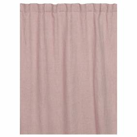 Linum -West Gardin Med Leggbånd 140x290 cm, Light Dusty Pink