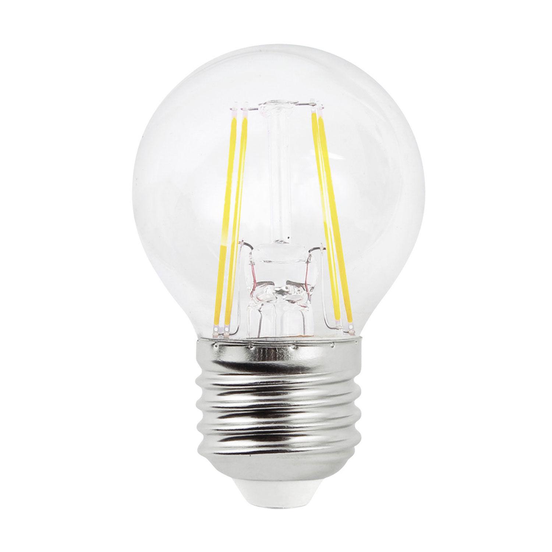 Airam-LED Rund Lyspære Filament Dimbar E27 4W