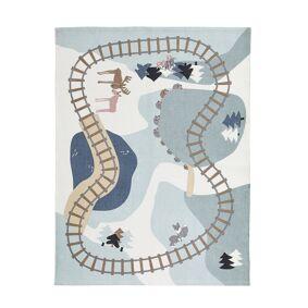 Kids Concept -Edvin Skog Teppe 130x170 cm, Blå