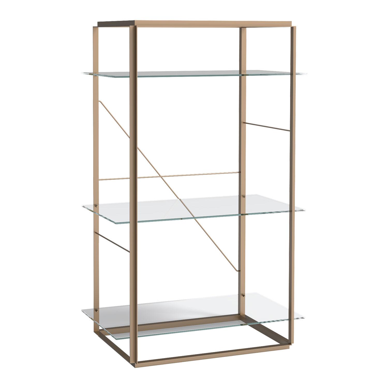 New Works-Florence Shelf Medium, Raw Gold Frame