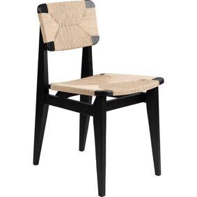 Gubi -C-Chair Stol, Papirsnøre / Oljet Sort Eik