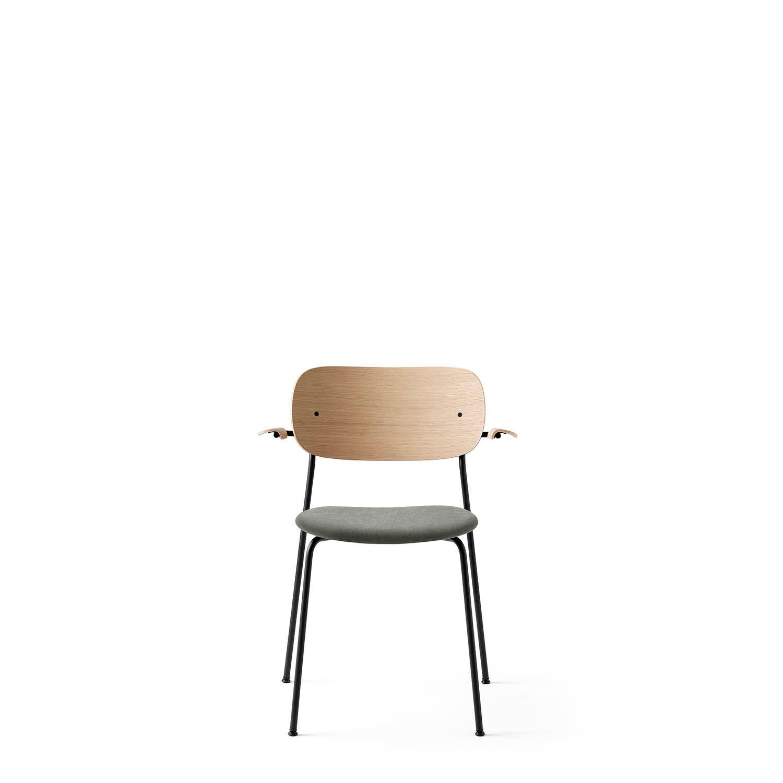 Menu-Chair Black Hallingdal 130 Seat/Natural Oak, Arms