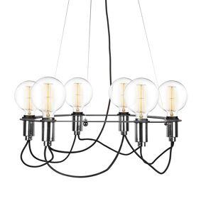 Globen Lighting -Cables Lysekrone ø60 cm, Sort/Krom