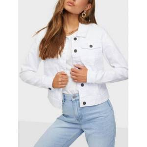 Noisy May Nmdebra L/S White Denim Jacket Clr